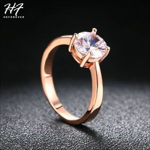 Round Solitaire Rose Gold Engagement Ring